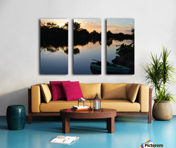 Along the Canal Split Canvas print