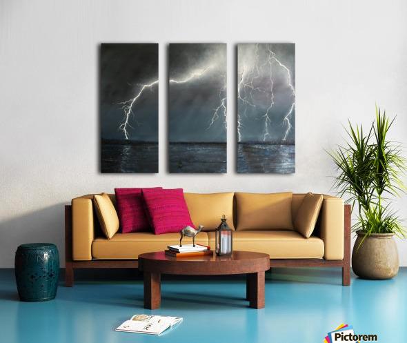 Electric Split Canvas print