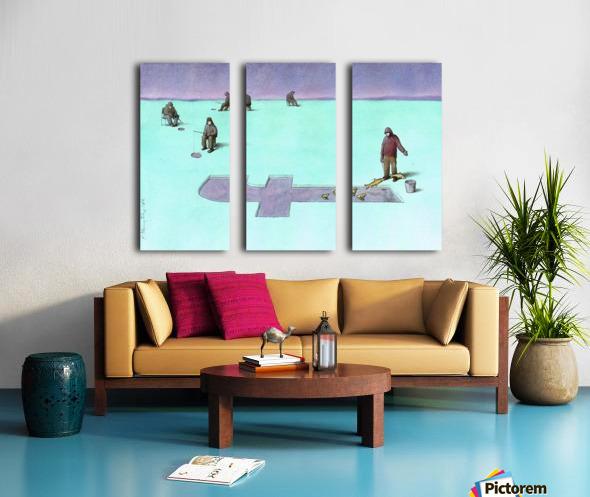 Fishing Split Canvas print