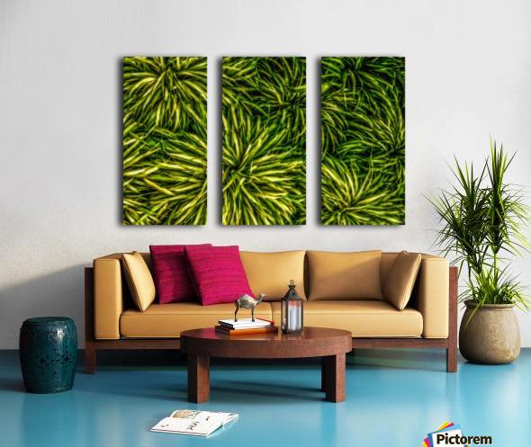 Green Chaos Split Canvas print