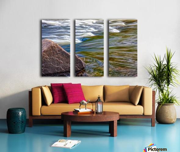 River Flow Split Canvas print
