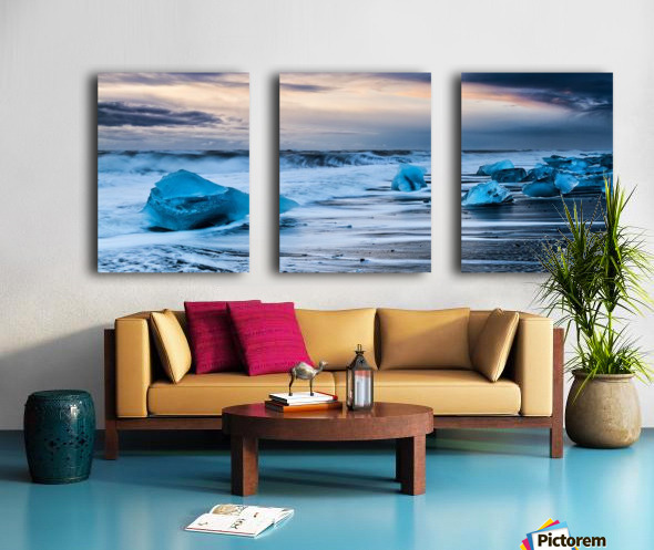 Ice Beach, Iceland Split Canvas print