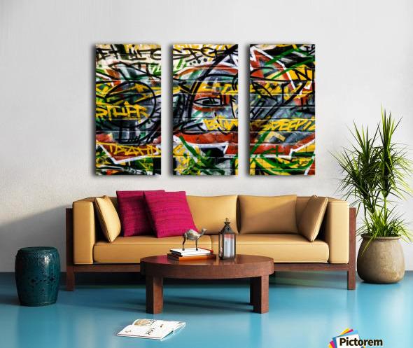Disagreement Split Canvas print