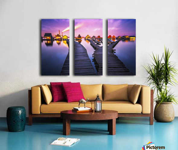 Two worlds Split Canvas print