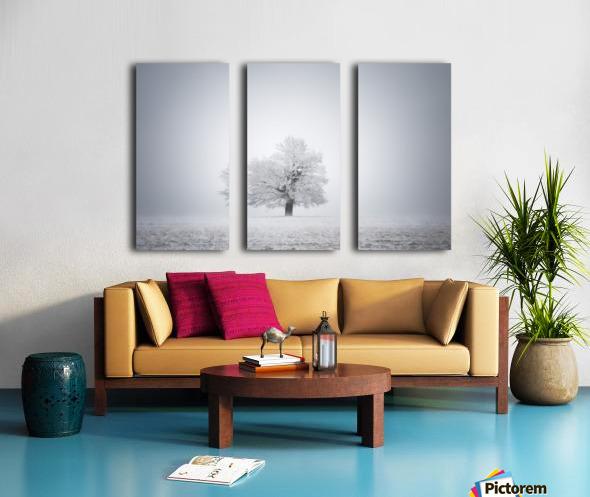 White solitude and light Split Canvas print
