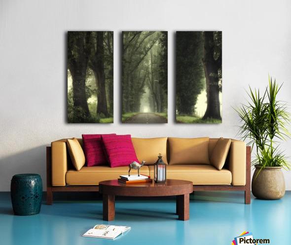 Tunnel of inner calmness Split Canvas print
