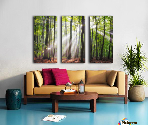 When the sun shine on your way Split Canvas print