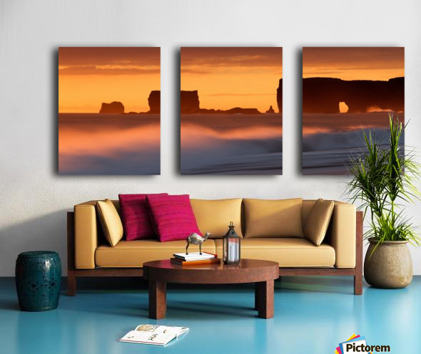 Vik Sunset, Iceland Split Canvas print