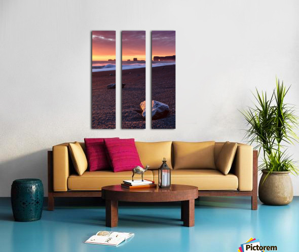 Vik, Iceland Split Canvas print