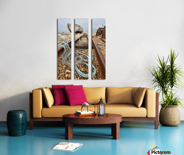 Deserted Dungeness Split Canvas print