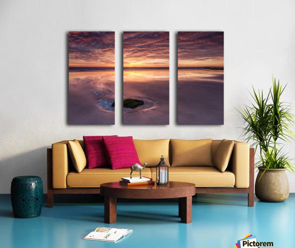 Beach Sunset Split Canvas print