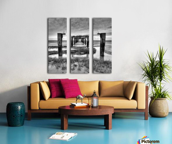 Derelict Pier Split Canvas print