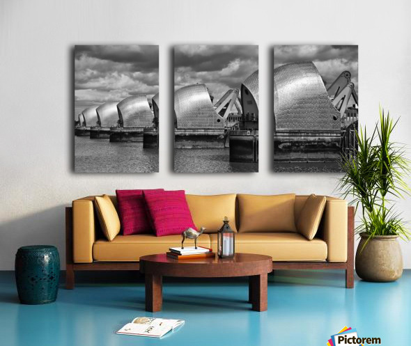 Thames Barrier, London, UK Split Canvas print