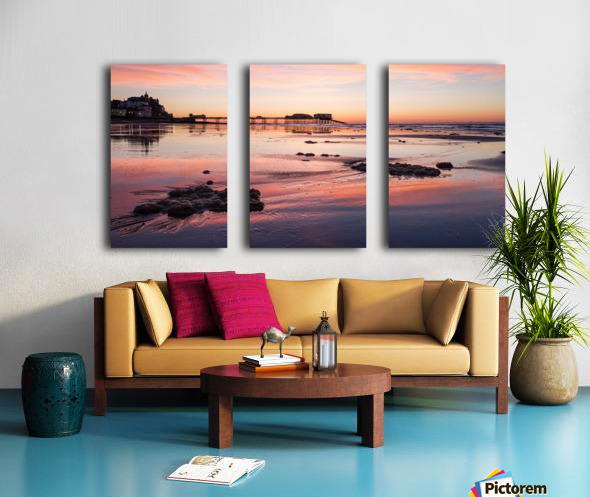 Pier Sunset Split Canvas print