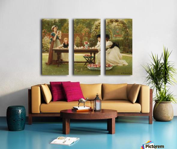 A feast of roses Split Canvas print