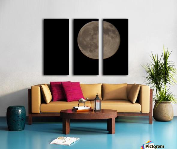 Super Moon 4 Split Canvas print