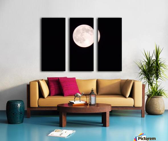 Super Moon 3 Split Canvas print