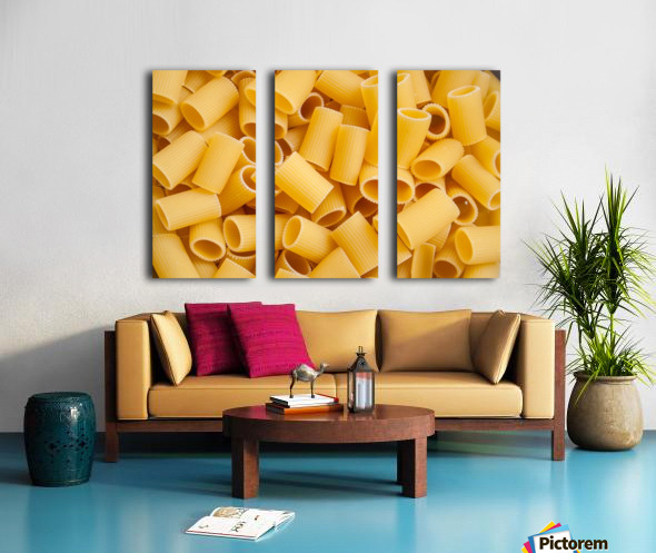 Dry pasta background  Split Canvas print