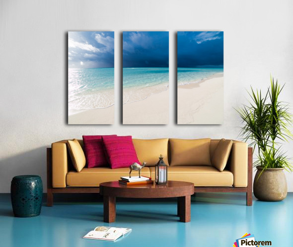 Amazing beach in Maldives, summer travel Split Canvas print