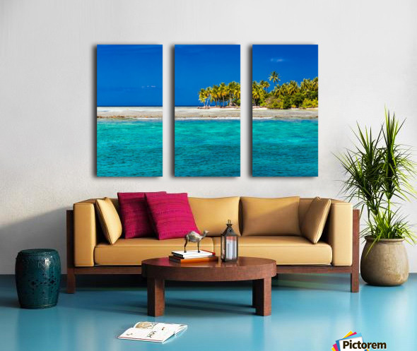 Tropical island background Split Canvas print