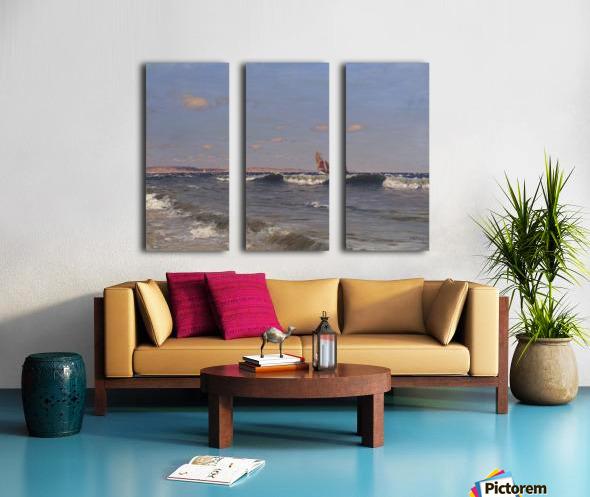 Sea Side Split Canvas print