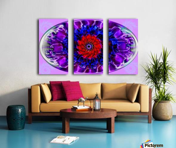 Fractal Eye Split Canvas print