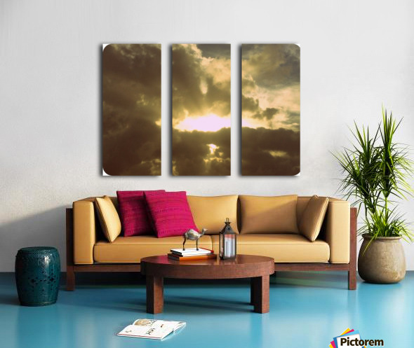 80s sky Split Canvas print