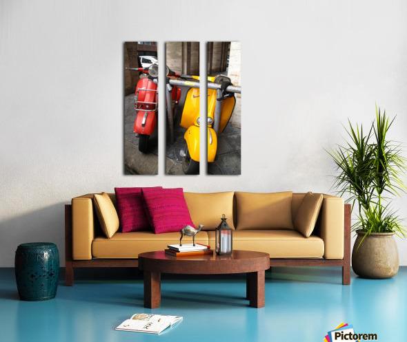 Scooter Buddies Split Canvas print