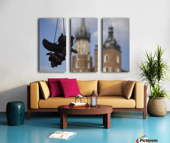 Cherub Silhouette Split Canvas print