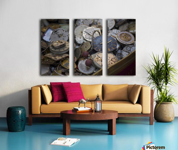 Pile of Old Time Split Canvas print