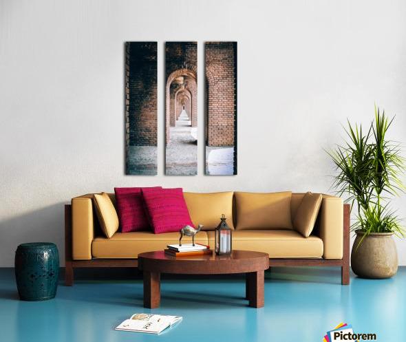 Infinite Arches-Tunnel Split Canvas print