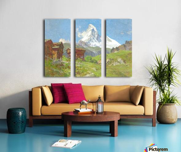 Matterhorn seen from Winkelmatten Split Canvas print