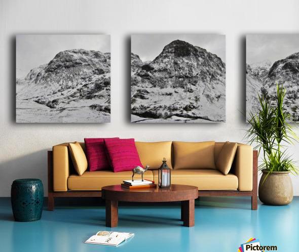 The Three Sisters, Glencoe Split Canvas print