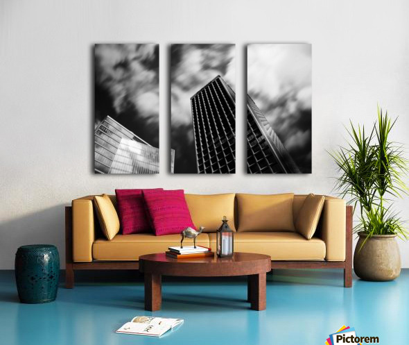 Black and white tower Split Canvas print