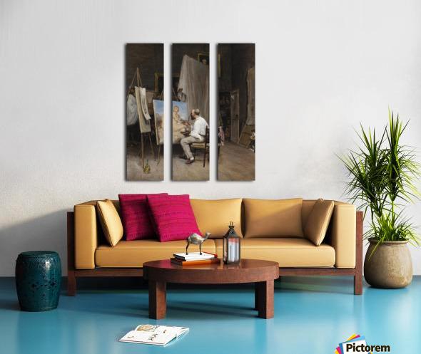 Le peintre dans son atelier Split Canvas print