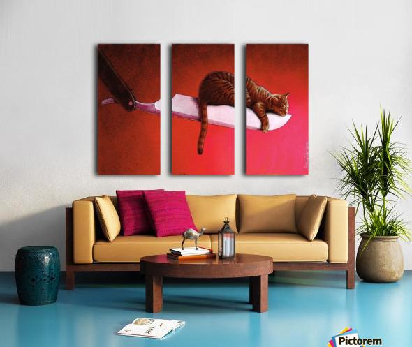 Razor  Cat Split Canvas print