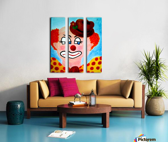 Masker, The sad Clown Split Canvas print