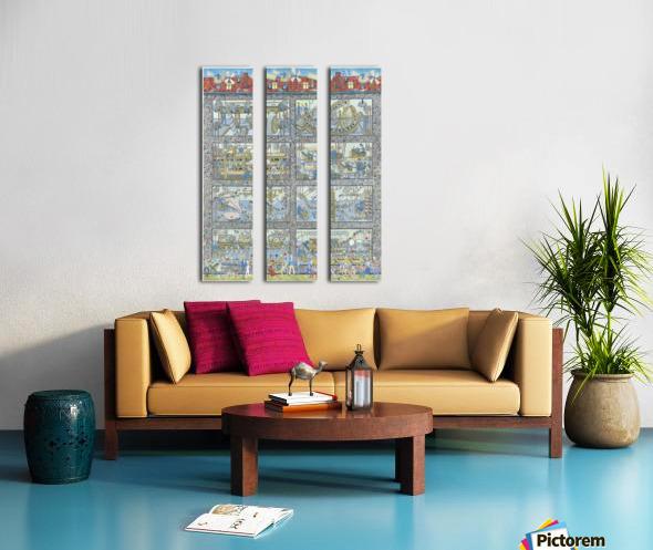 Boccakulefabrikk - The bocca factory Split Canvas print