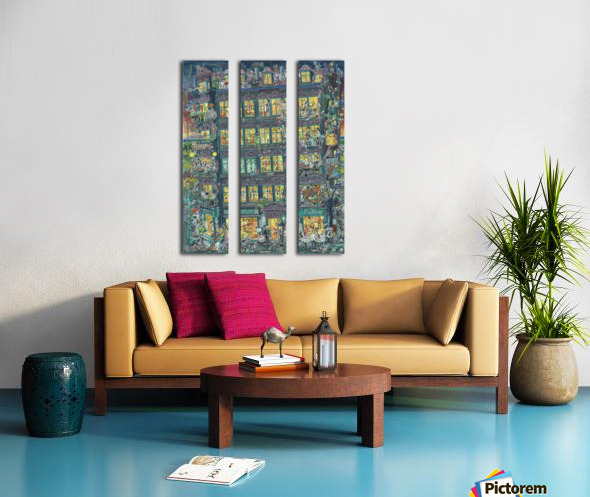 Husparty - Houseparty Split Canvas print