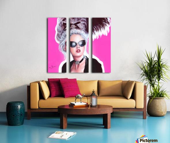 Marie Antoinette inspired art Split Canvas print