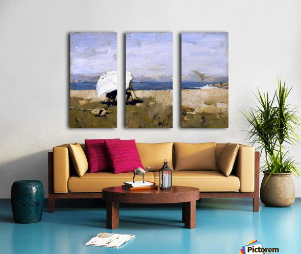 Hard at it by Guthrie Split Canvas print