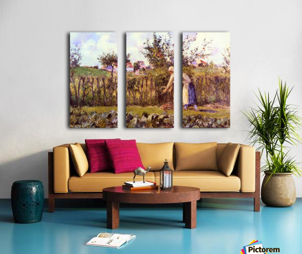 In the Orchard by Pissarro Split Canvas print