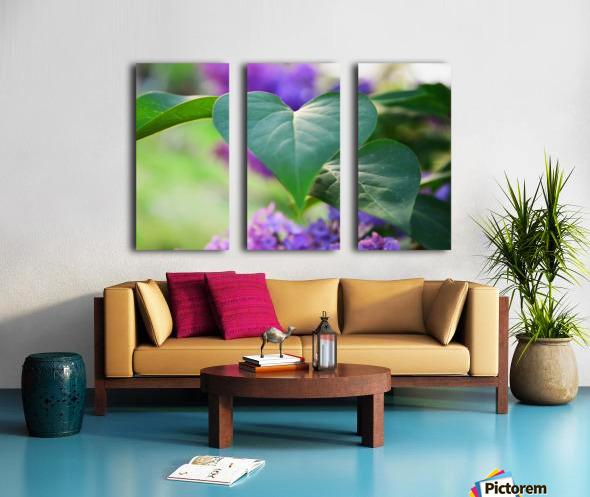 Lilac hearts Split Canvas print