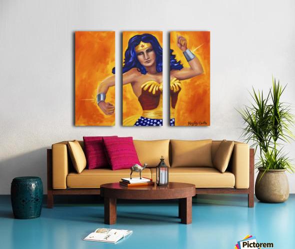 Wonder Woman Split Canvas print