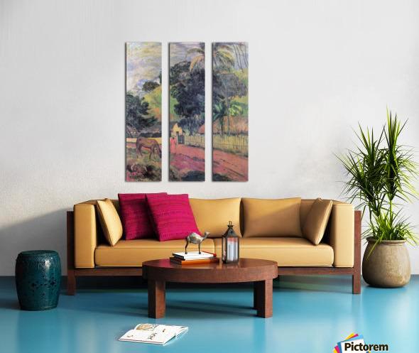 Landscape by Gauguin Split Canvas print