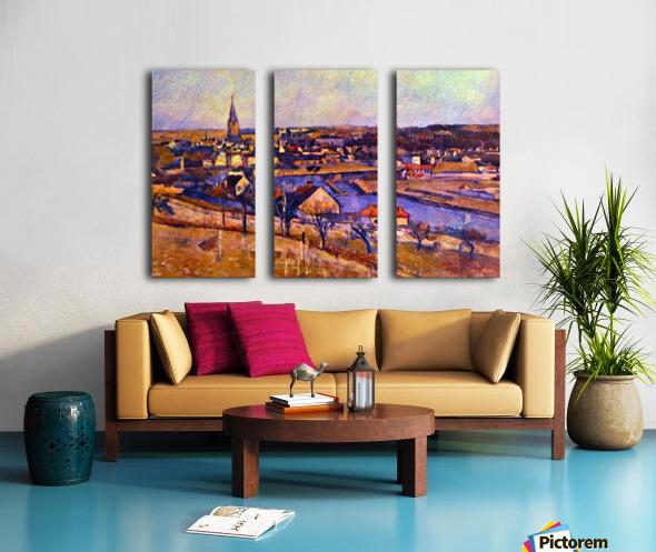 Landscape of Ile de France by Cezanne Split Canvas print