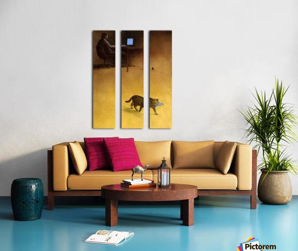 Modern Hunter Split Canvas print