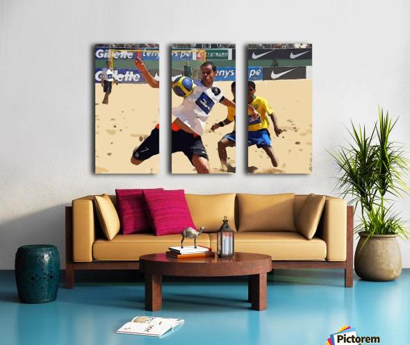 Beach football_05 Split Canvas print