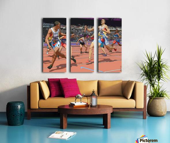 Athletics_04 Split Canvas print