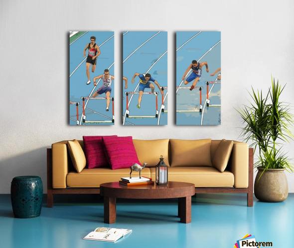 Athletics_13 Split Canvas print